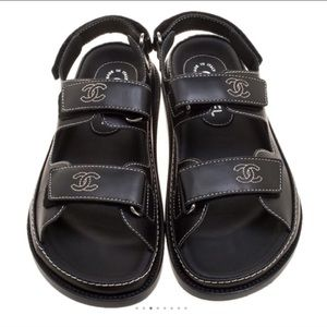 CHANEL Dad Velcro Sandals